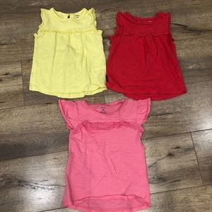 Bundle of 3 Adorable Toddler Girl's Tops 5T